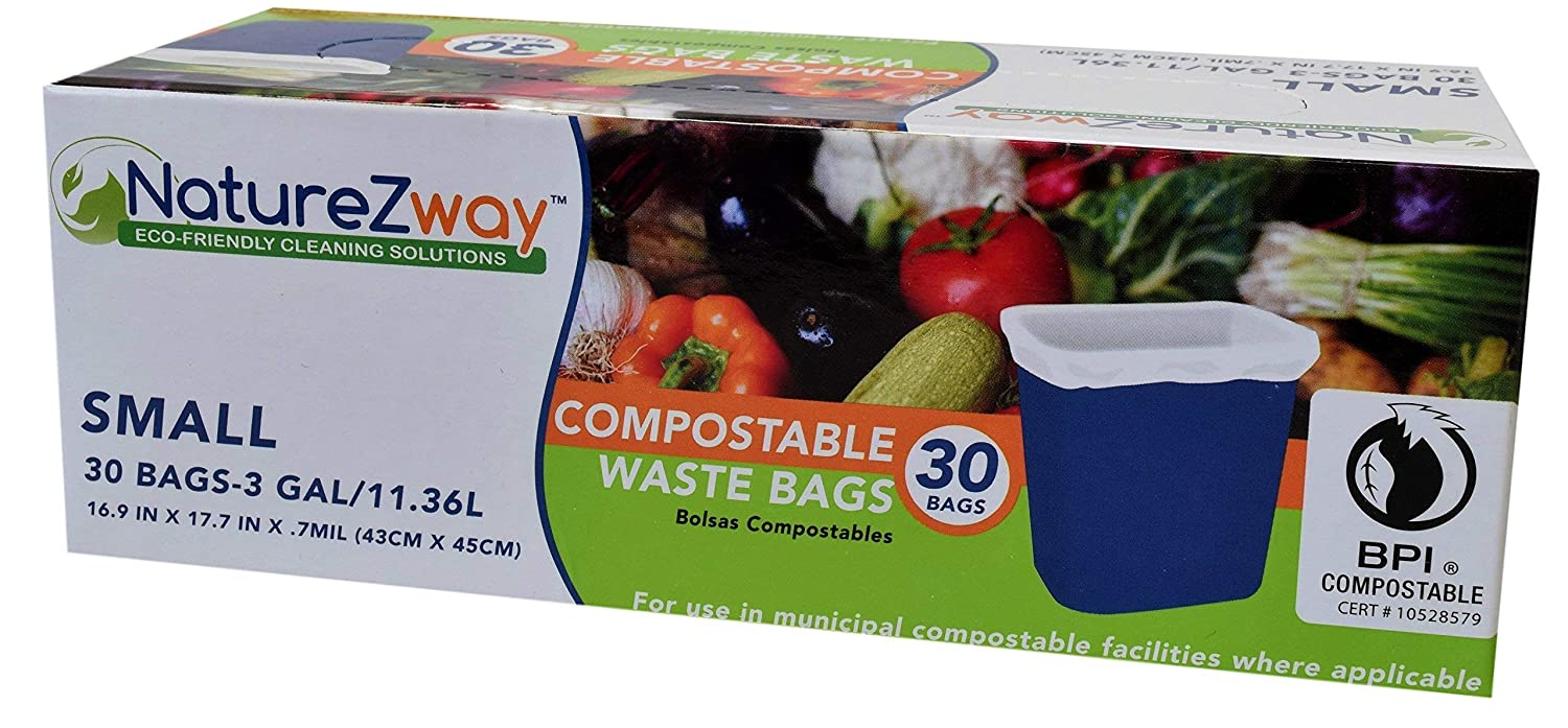 Amazon.com: Naturezway, Waste Bags 3 Gal 30 Count, 30 Count ...