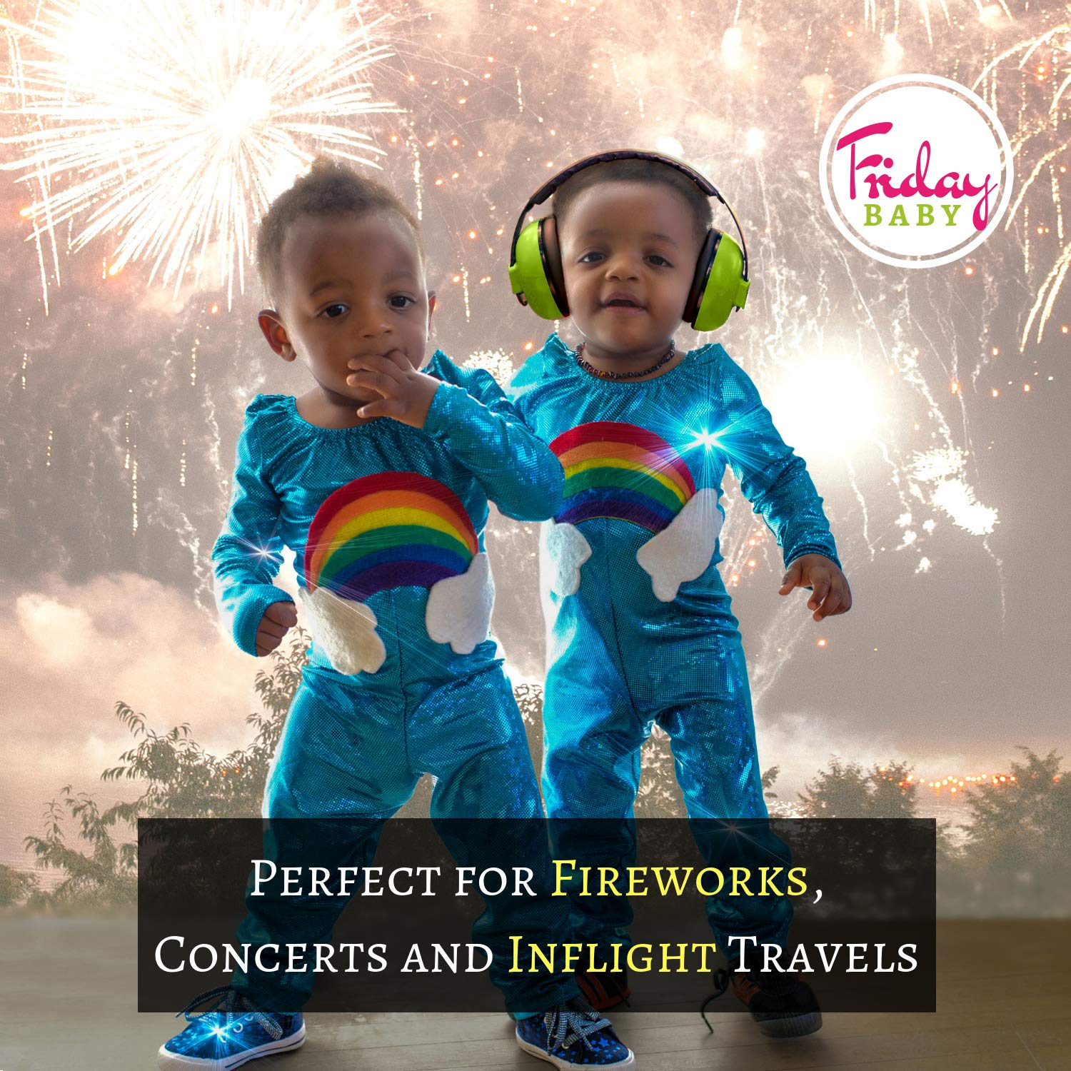 Baby Ear Protection - Comfortable and Adjustable Premium Noise Cancelling Headphones for Babies, Infants, Newborns (0-2+ Years) | Best Baby Headphones Noise Reduction for Concerts, Fireworks & Travels by Friday Baby (Image #3)