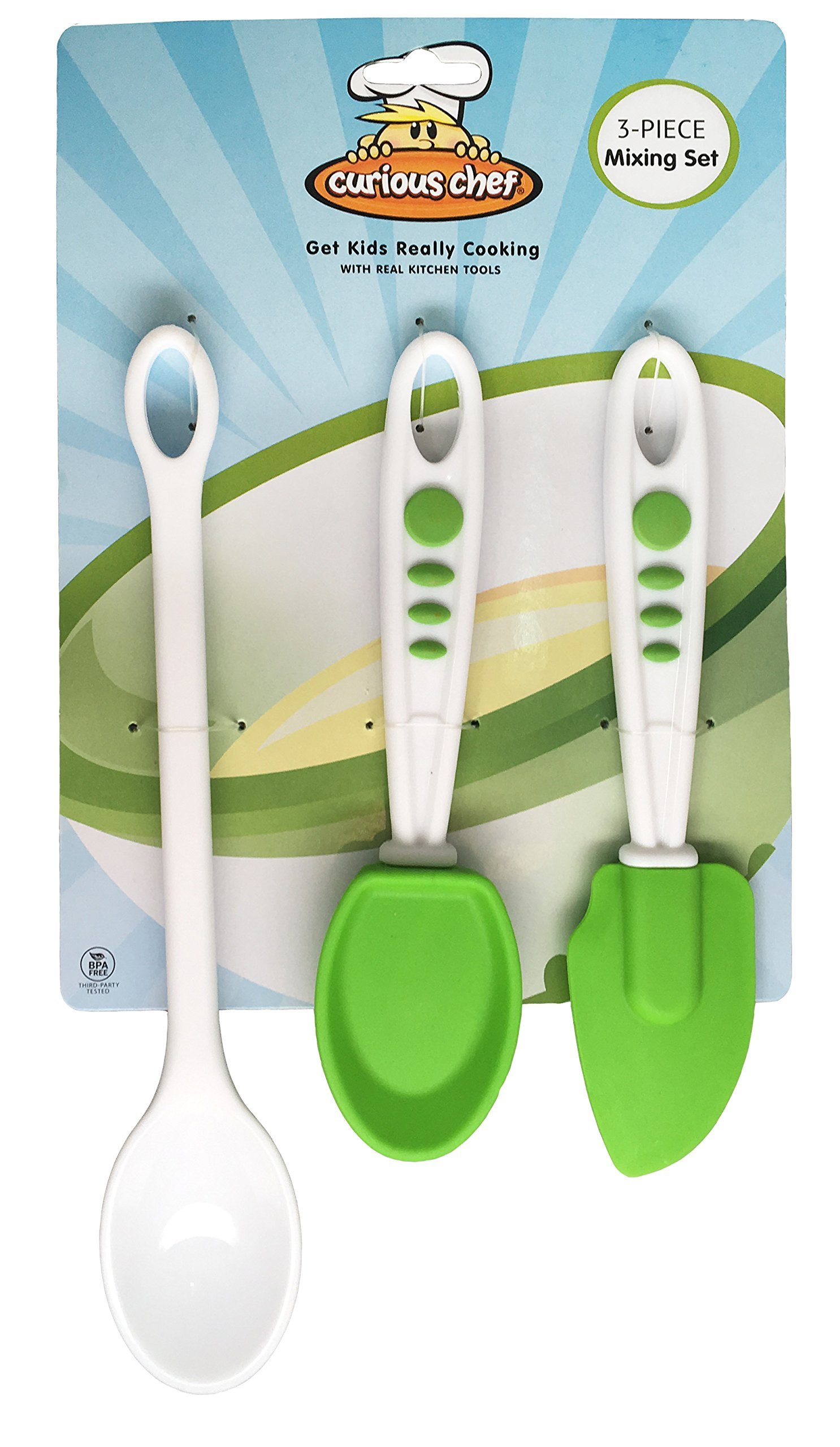 Curious Chef 3 Piece Mixing Set, White