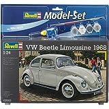 Revell - 67083 - Maquette De Voiture - Vw Beetle Limousine 68 - 125 Pièces - Echelle 1/24