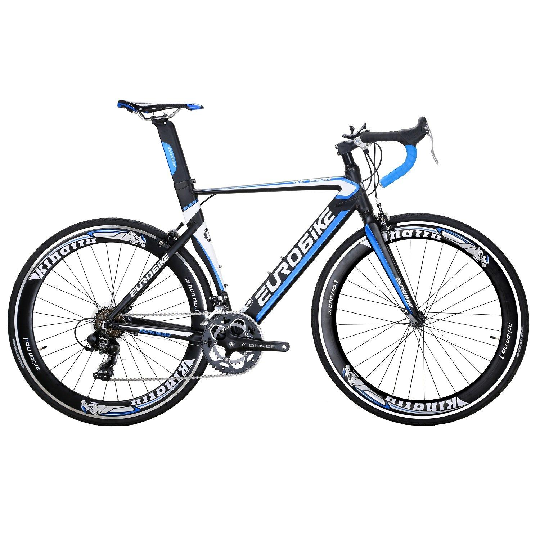 最高の EUROBIKE ブルー XC7000 ロードバイク 2018モデル 2018モデル 700C アルミ合金自転車14S変速 钳形ブレーキ通勤通学 B078WKBSQG ロード アルミ バイク ブルー B078WKBSQG, イベント企画:c8d6f25d --- 4x4.lt