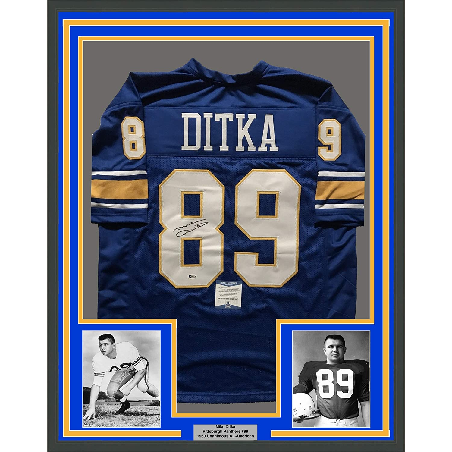 online store f56ab a2373 Framed Autographed/Signed Mike Ditka 33x42 Pittsburgh ...