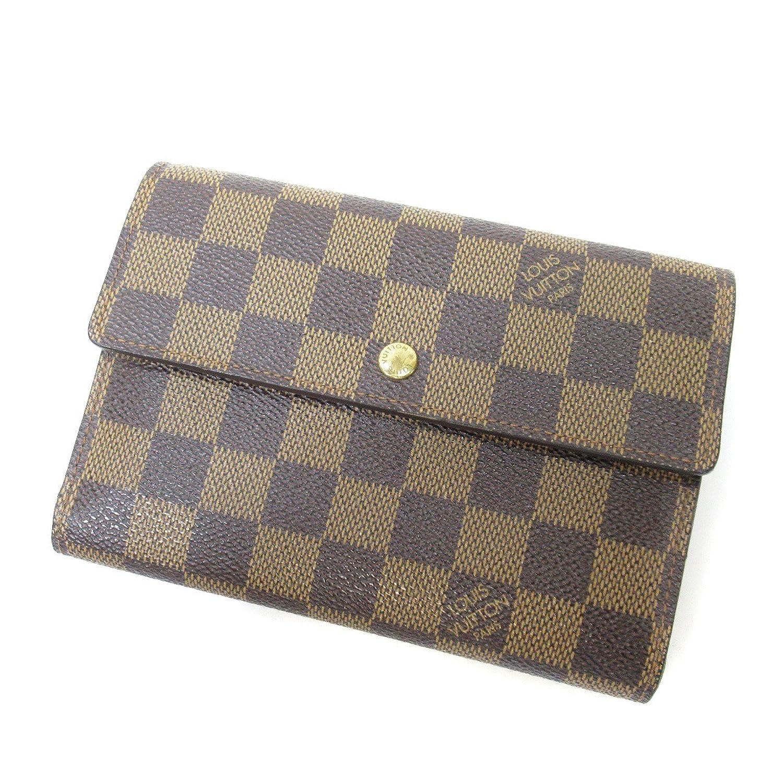 [ルイヴィトン]ポルトトレゾールエテュイパピエ 二つ折り財布(小銭入れあり) ダミエキャンバス ユニセックス (中古) B07DS748LJ