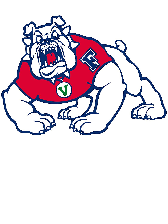 NCAA Fresno State Bulldogs RYLFRS06 Womens Crop T-Shirt