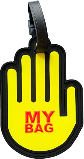1367e8fd9530 My Bag Fun Unique Luggage Tag 3-D Large Reinforced Heavy Duty Travel Bag ID