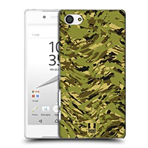 Head Case Designs Urban Disruption Green Digital Camou Hard Back Case for Sony Xperia Z5 Compact