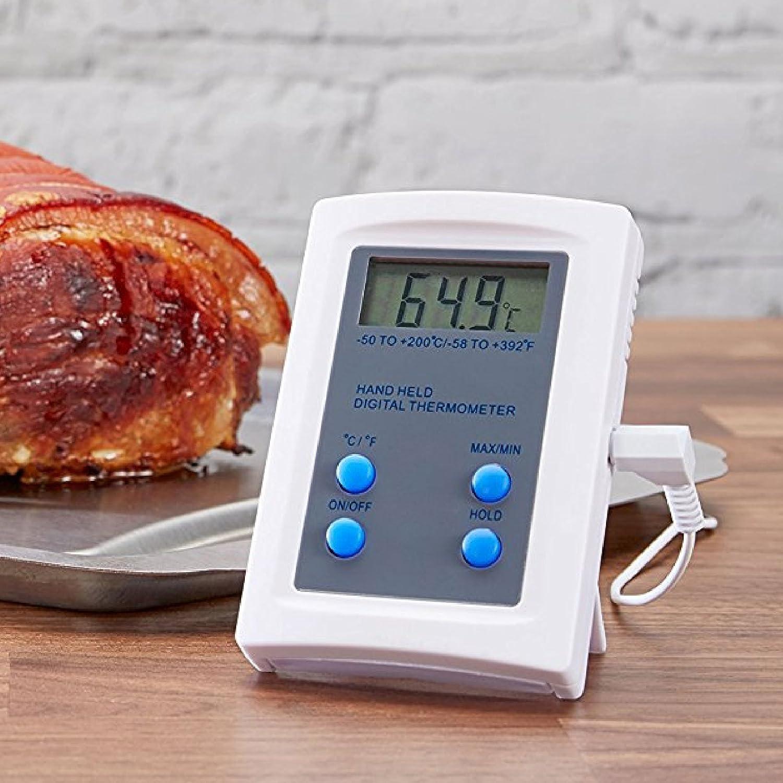 Andrew James K/üchenthermometer Temperaturbereich von -50/°C bis 200/°C Digitale Anzeige und Magnetband Digitales Thermometer mit Temperaturf/ühler
