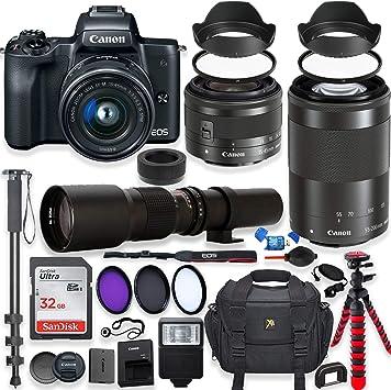 Canon m50 lenses