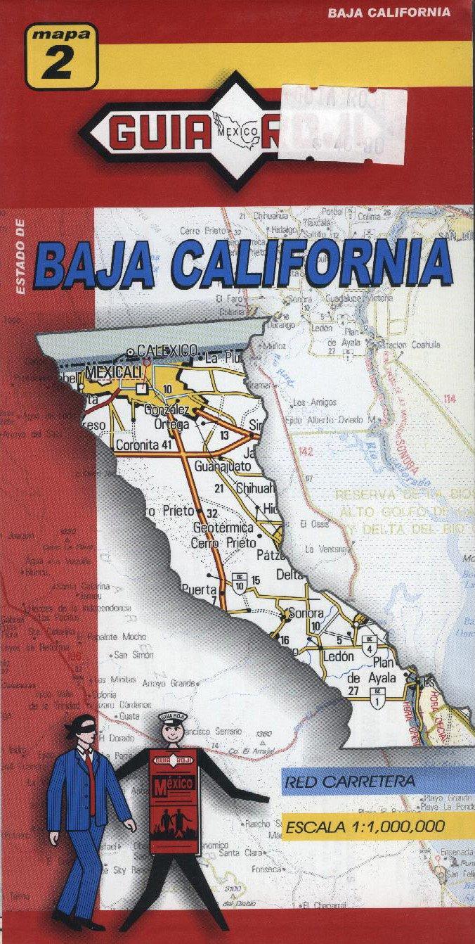Mexico: Baja California 1:1, 000, 000 State Map (Spanish Edition ...