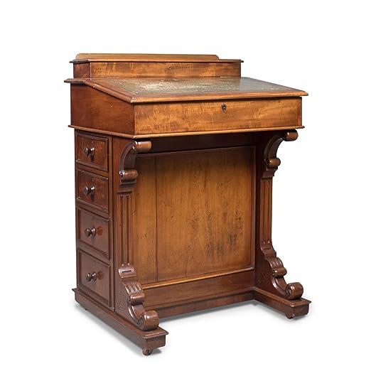 London Fine Antiques Escritorio Davenport, Inglés Antiguo, Estilo ...