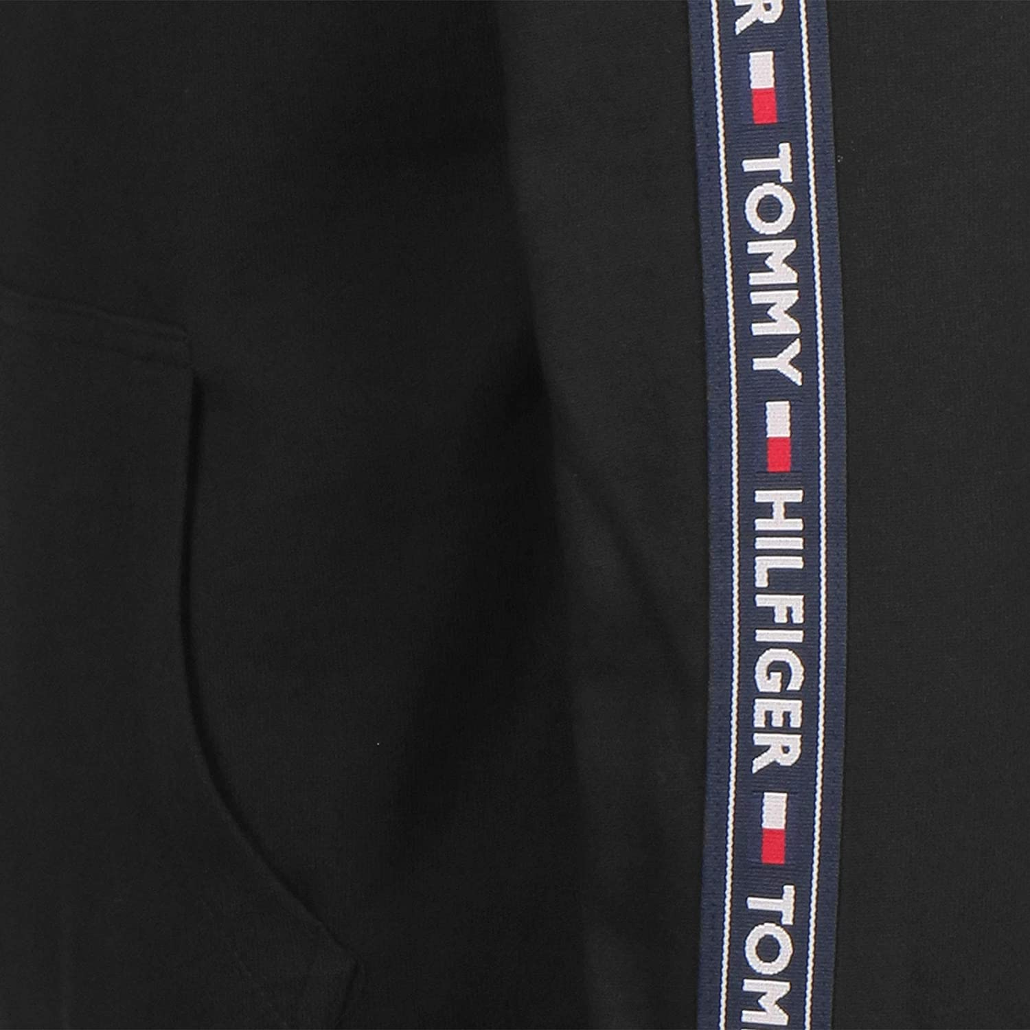 Black Tommy Hilfiger Mens Lounge Zip Hoodie