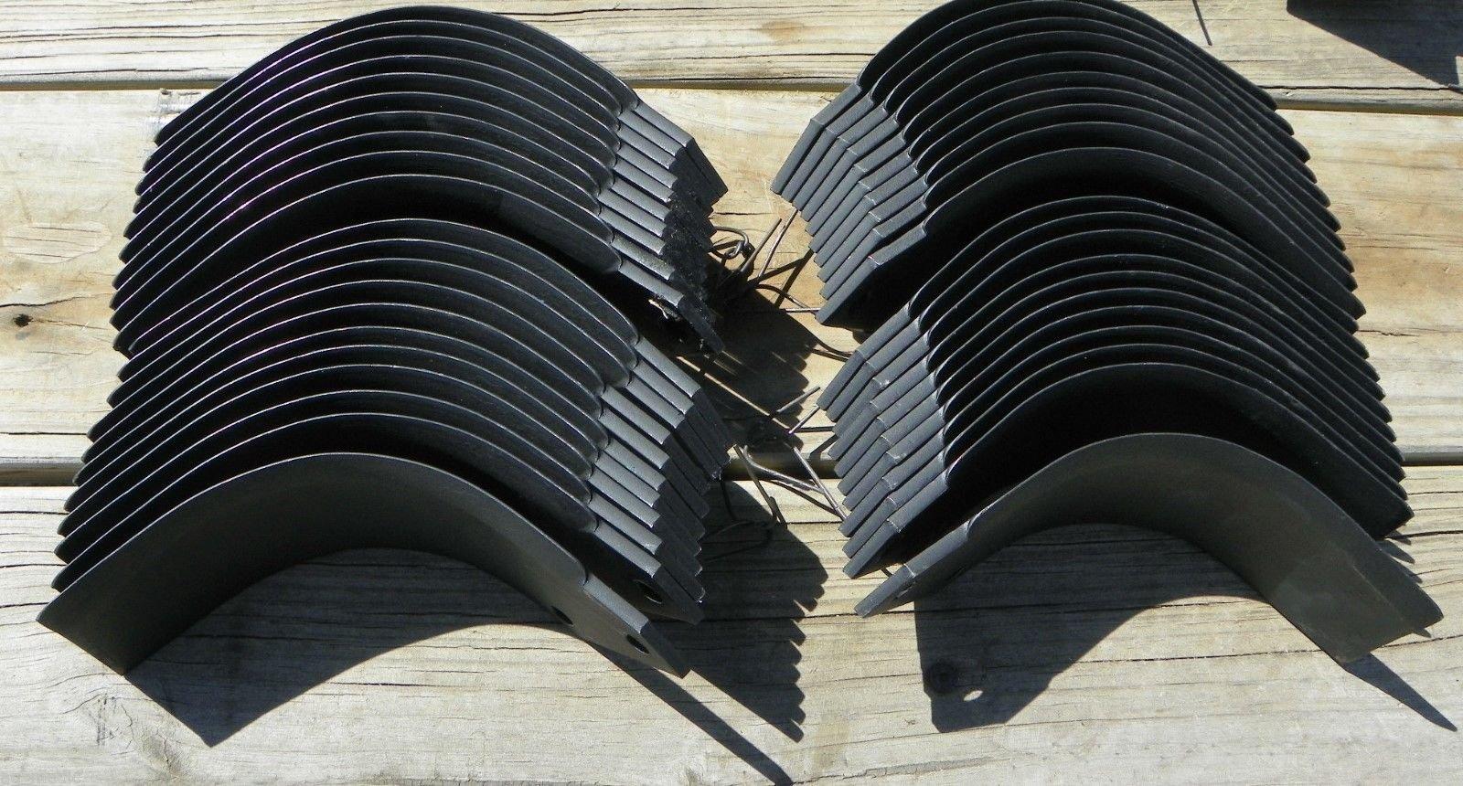 21 each John Deere Tiller Tines PT8446 & PT8447 Full Set Model 670