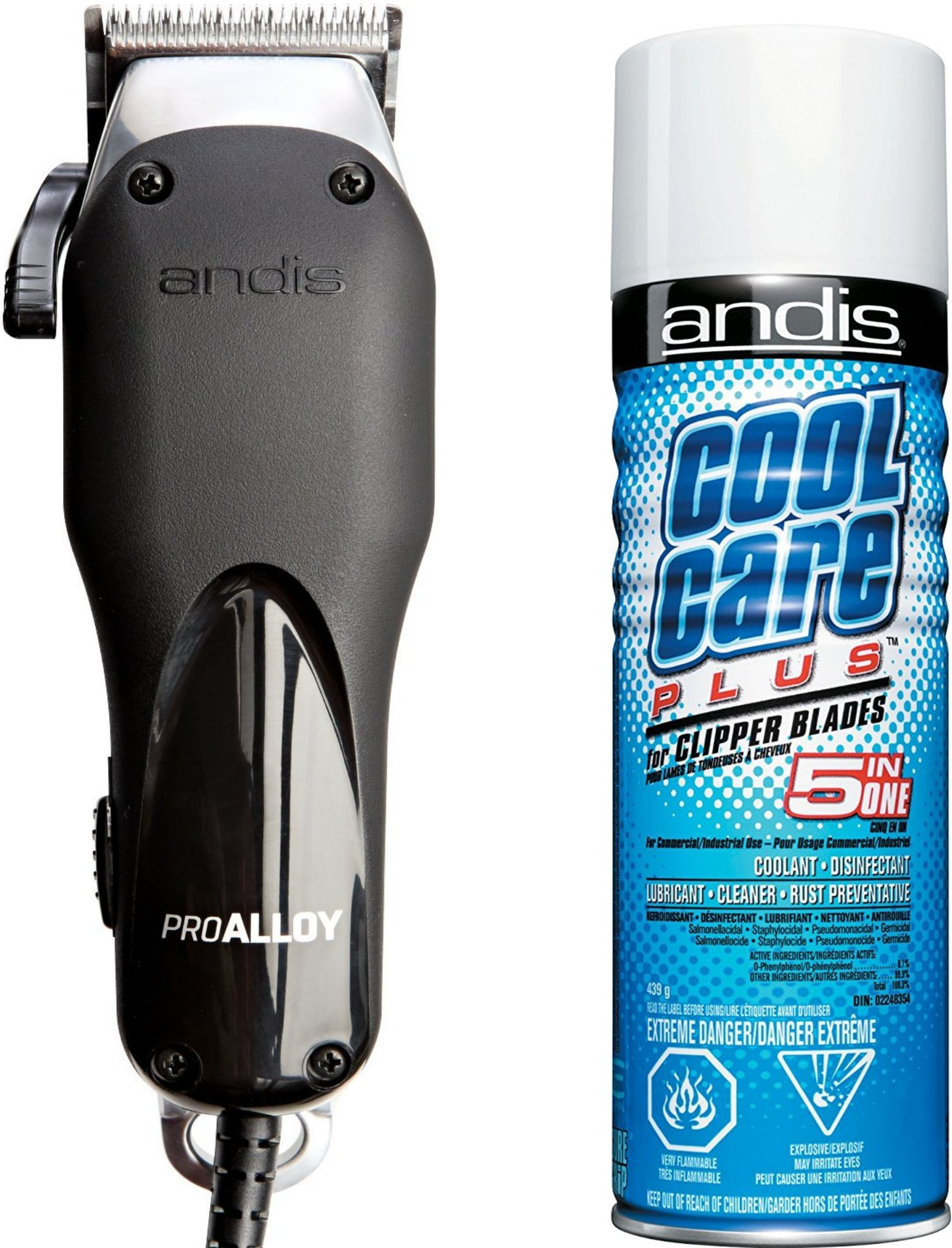 Andis Professional Hair Clippers with All NEW XTR (Extreme Temperature Reduction) Technology and BONUS FREE Andis Cool Care Plus Clipper Blade Cleaner