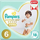 Pampers Premium Care Pants Diapers, Size 6, Extra Large, 16+ kg, Carry Pack, 18 Count