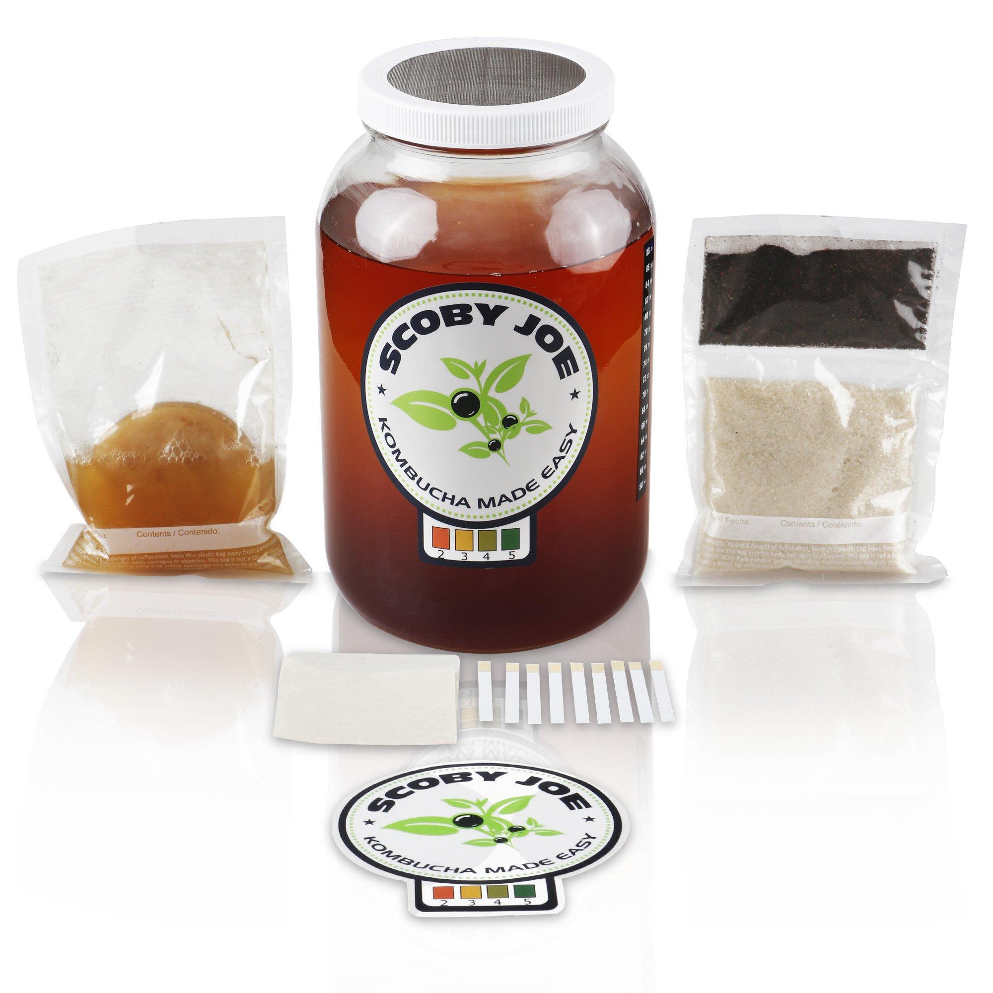 Kombucha Made Easy - All Organic Ingredients - SCOBY Joe - Home Brewing Kit