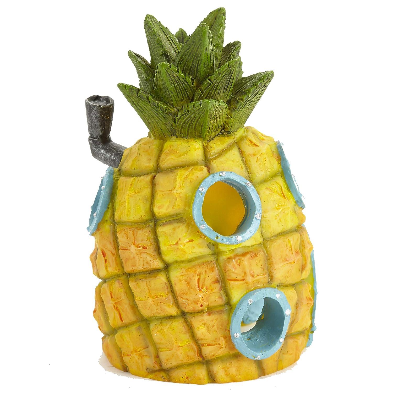 Pet Ting Bob Esponja Casa de piña Acuario Decoración Ornamento: Amazon.es: Productos para mascotas