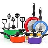 Vremi VRM030012N Cookware-Sets, 15 Piece, Multicolor