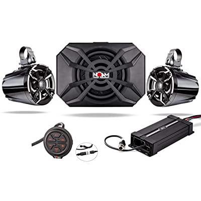 NOAM NUTV5-S V.2 - ATV/Golf Cart/UTV Waterproof Speakers Bluetooth 2.1 Marine Stereo System: Home Audio & Theater