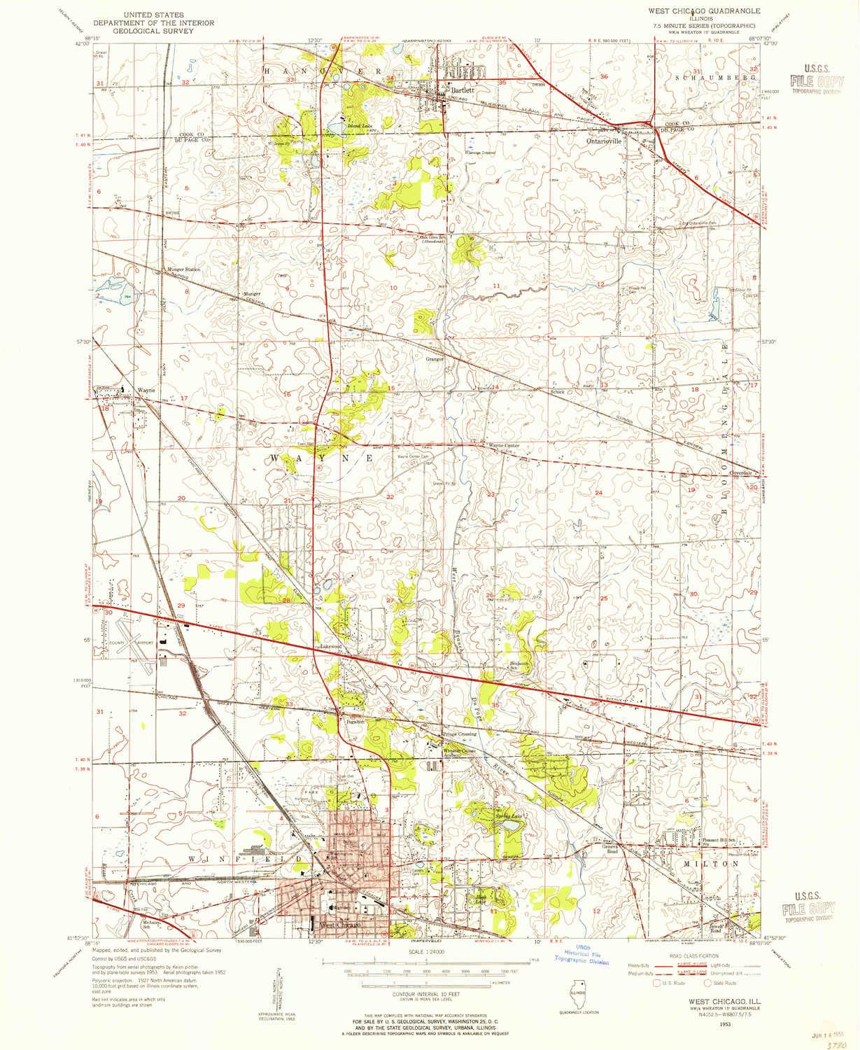 Chicago Location In Us Map.Amazon Com Yellowmaps West Chicago Il Topo Map 1 24000 Scale 7 5