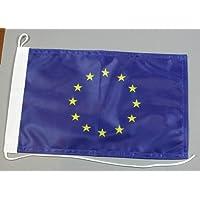 Buddel-Bini Bootsflagge Europa Europarat 20 x 30 cm in Profiqualität Flagge Motorradflagge