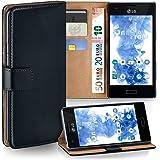LG E610 Optimus L5 Hülle Schwarz mit Karten-Fach [OneFlow 360° Book Klapp-Hülle] Handytasche Kunst-Leder Handyhülle für LG Optimus L5 Case Flip Cover Schutzhülle Tasche