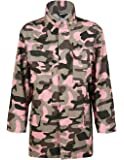 Richlulu Women Military Camo Lightweight Long Sleeve Cotton Outwear Jacket Coat