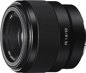 Sony SEL50F18F.SYX Objetivo Fijo (FE 50 mm, F1.8), Negro, solo Objetivo