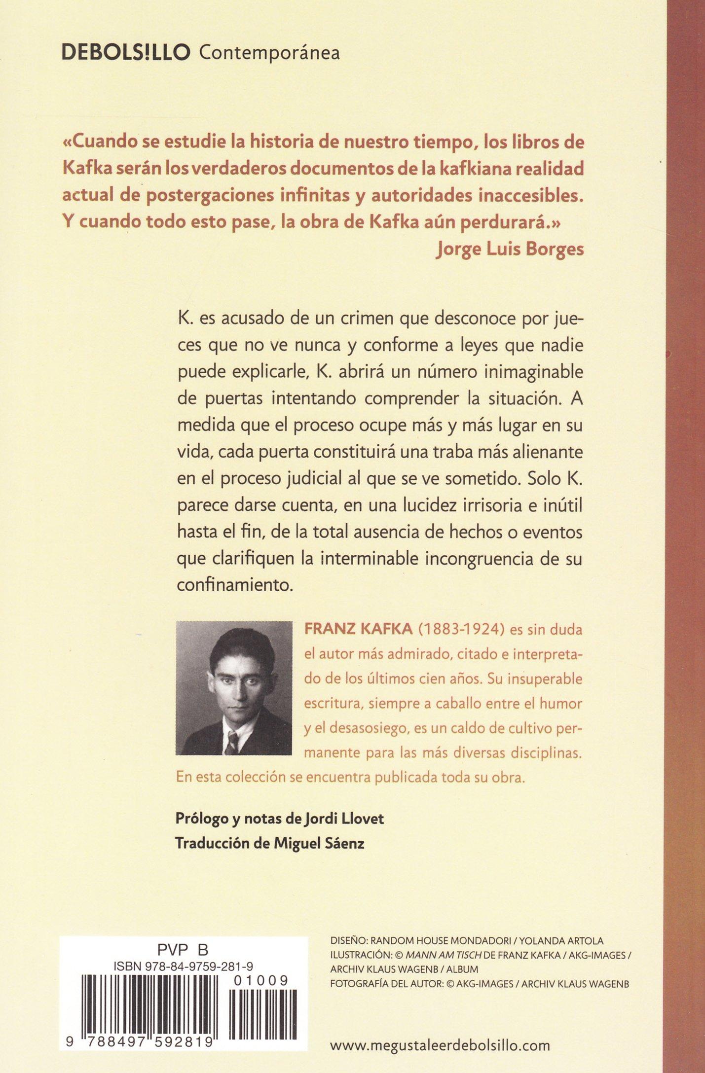 Amazon.com: El proceso (Contempora) (Spanish Edition) (9788497592819):  Frank Kafka: Books