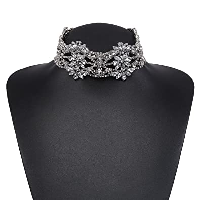 Holylove 2 Colors New Trend Stylish Bling Choker Necklace & Gold or Silver Chain with Gift Box Uo6nnA