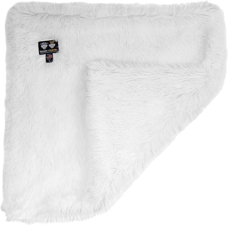 "Bessie and Barnie Snow White Luxury Shag Ultra Plush Faux Fur Pet, Dog, Cat, Puppy Super Soft Reversible Blanket (Multiple Sizes), LG - 56"" x 36"""