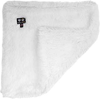 """product image for Bessie and Barnie Snow White Luxury Shag Ultra Plush Faux Fur Pet, Dog, Cat, Puppy Super Soft Reversible Blanket (Multiple Sizes), XS - 20"""" x 20"""""""