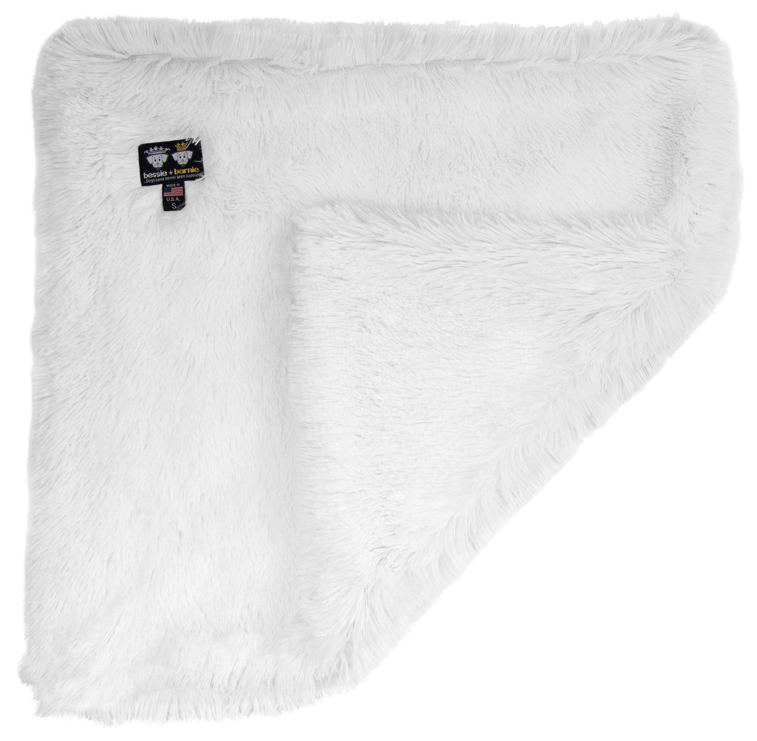 Bessie and Barnie Snow White Luxury Shag Ultra Plush Faux Fur Pet, Dog, Cat, Puppy Super Soft Reversible Blanket (Multiple Sizes), MD - 36'' x 28'' by Bessie and Barnie