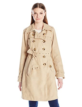 d78a0cc56a Amazon.com: Steve Madden Women's Classic Trench Coat: Clothing