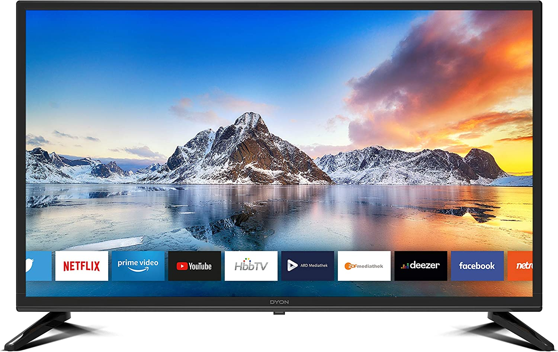 Dyon Smart 32 Xt 80 Cm 32 Zoll Fernseher Hd Smart Tv Hd Triple Tuner Dvb C S2 T2 Prime Video Netflix Hbbtv Modelljahr 2020 Heimkino Tv Video