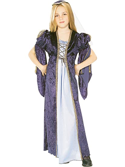 Childrens Juliet Fancy Dress Costume Romeo & Juliet Shakespeare Outfit 8-10 Yrs