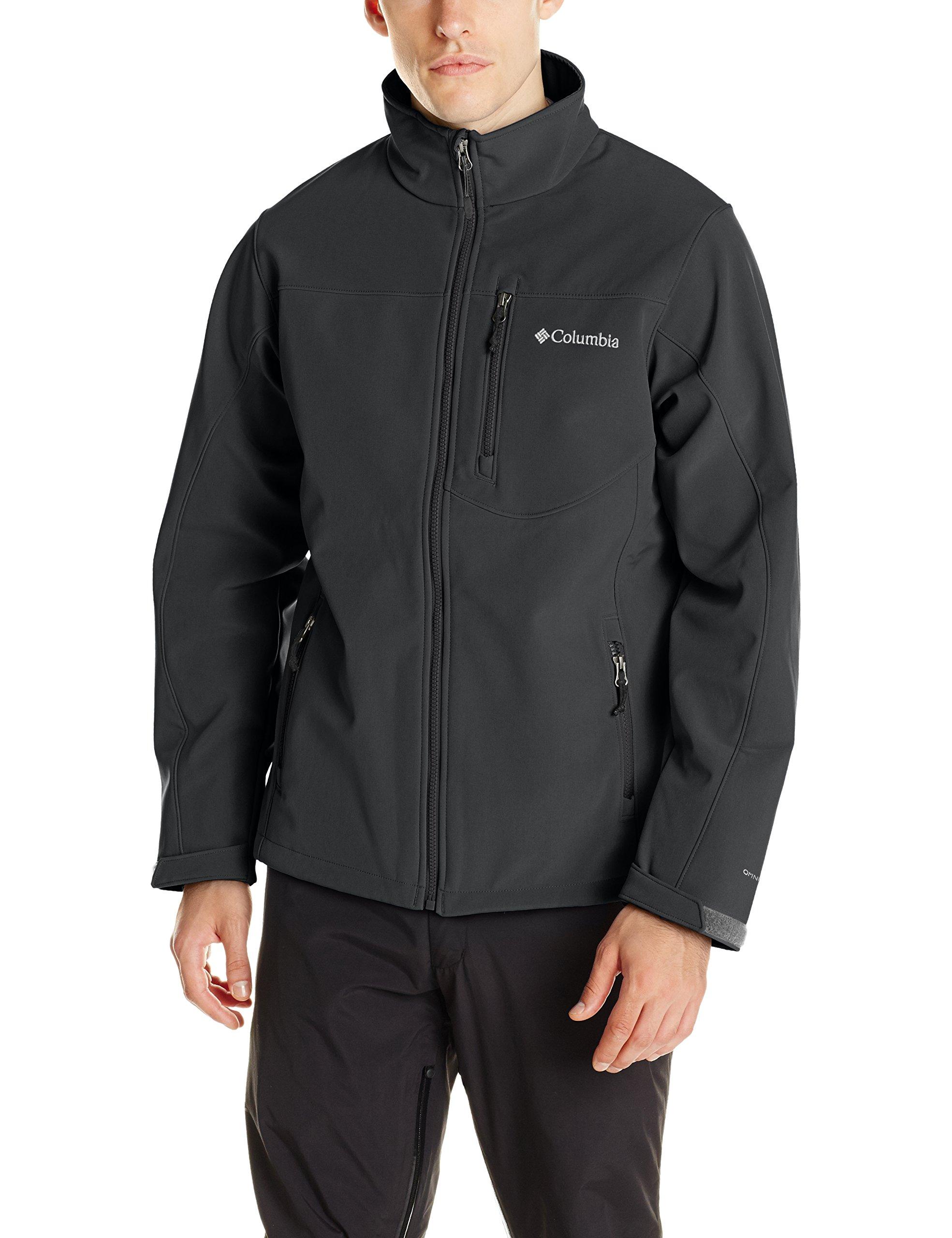 Columbia Men's Prime Peak Softshell Jacket, Black, Medium by Columbia