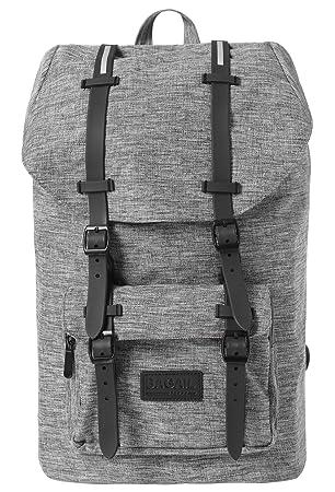 3cad2fae74d Amazon.com  Bagail Casual Large Vintage Canvas Travel Backpacks Laptop  College School Bags (Dark Grey)  Bagail