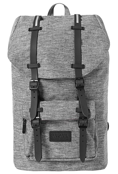 Amazon.com  Bagail Casual Large Vintage Canvas Travel Backpacks Laptop  College School Bags (Dark Grey)  Bagail 4e742c25f8f9e