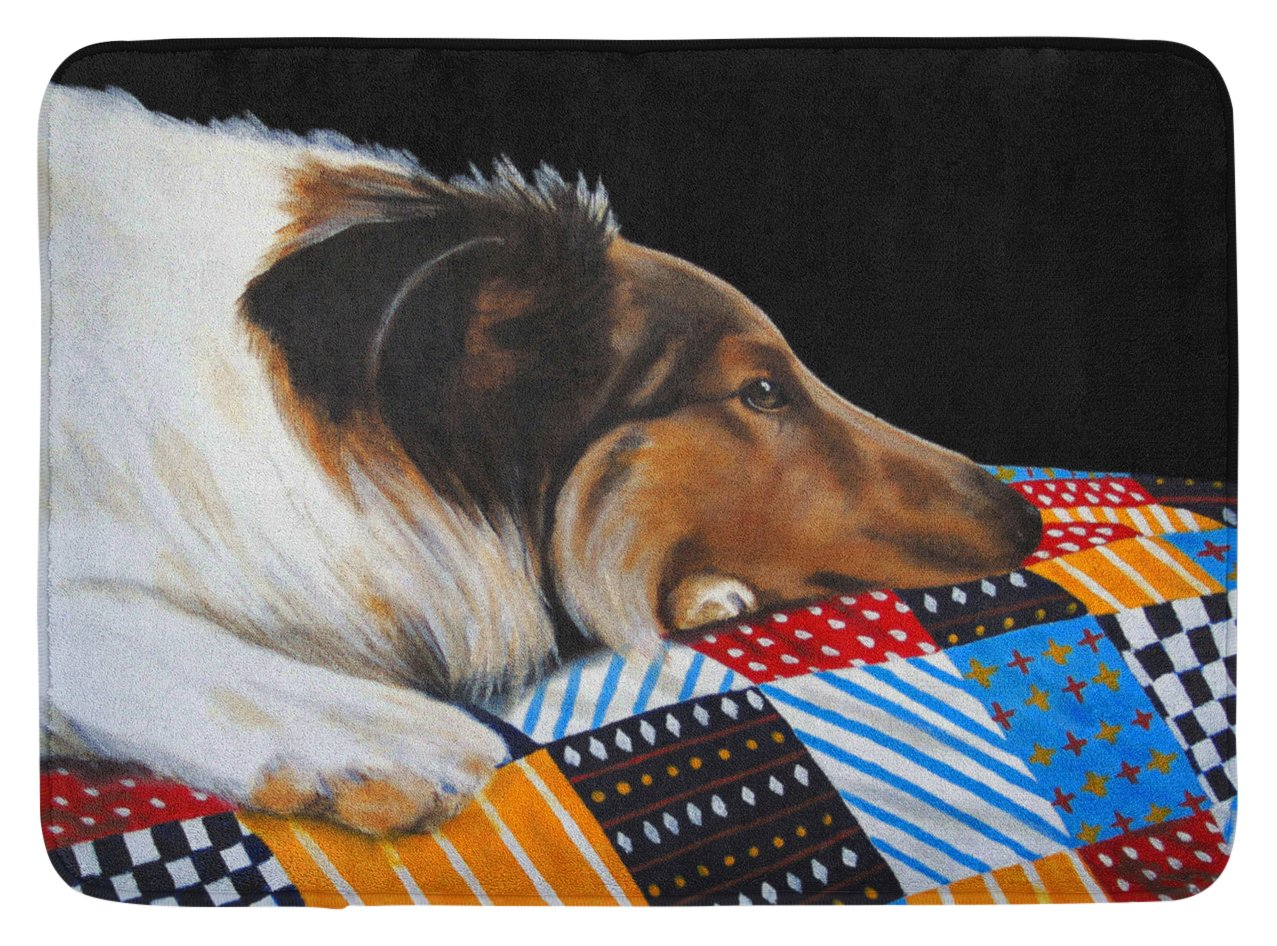 Multicolor Carolines Treasures Day Dreamer Collie Floor Mat 19 x 27