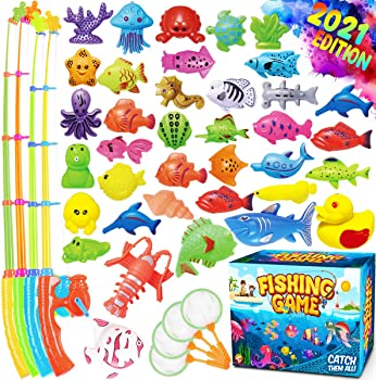 GoodyKing Magnetic Fishing Game Pool Toys for Kids