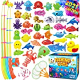 GoodyKing Magnetic Fishing Game Pool Toys for Kids - Magnetic Fishing Toy for Toddlers Bath-tub Outdoor Indoor Carnival Party
