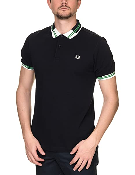 Fred Perry MenS Block Tipped Pique MenS Blue Polo T-Shirt 100 ...