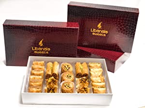 Baklava Gift Box 30 Pc. Signature Collection - Red