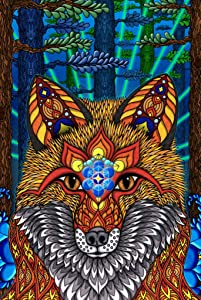 Pyramid America Phil Lewis Electric Fox Red Fox Connection with Nature Spirituality Inspirational Art Cool Wall Decor Art Print Poster 24x36