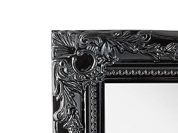 88dbeacf96126 elbmoebel Wall mirror shabby chic antique style ornate black silver white -  large 33x27x3 cm (Black)  Amazon.co.uk  Kitchen   Home