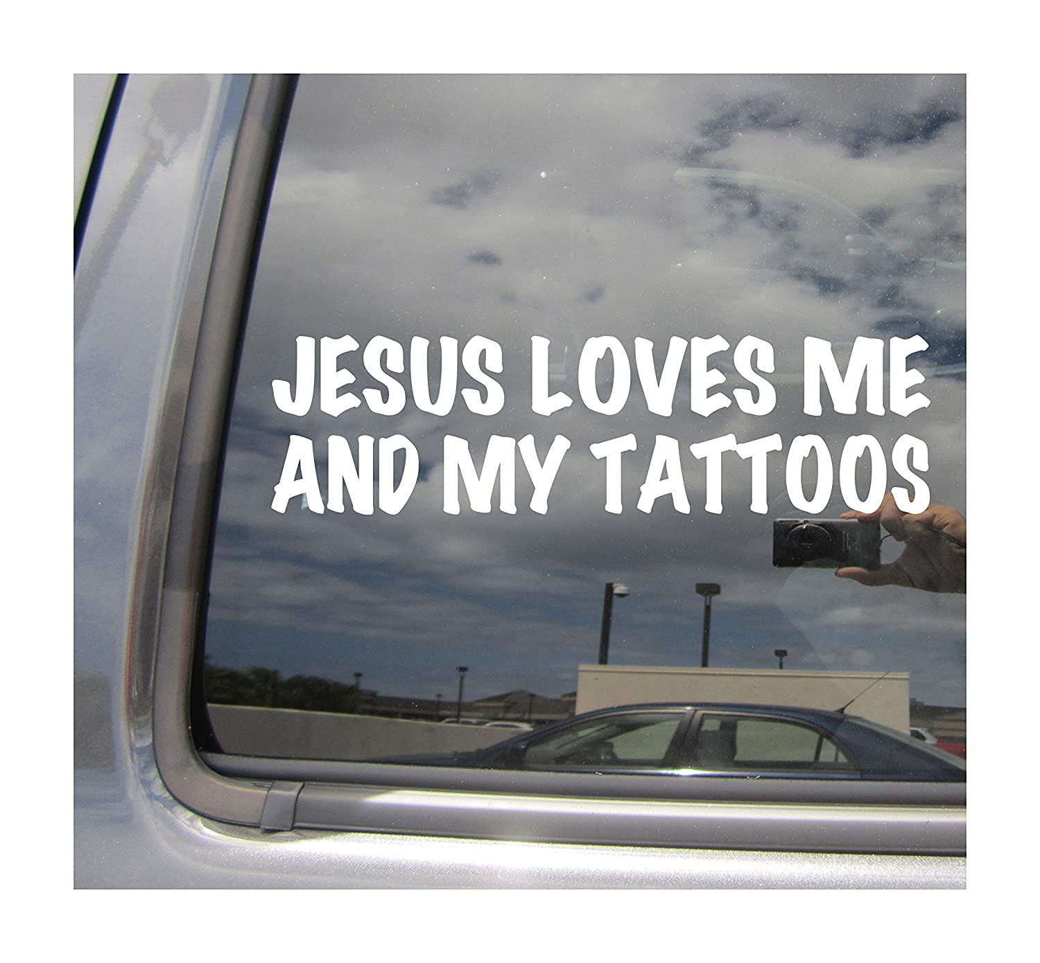 Amazon com right now decals jesus loves me and my tattoos