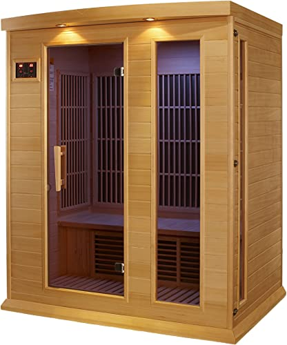 Maxxus 3 Per Low EMF FAR Infrared Carbon Canadian Hemlock Sauna
