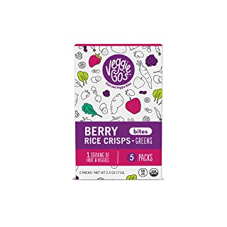 Veggie-Go's Organic Fruit Snack Bites with No Added Sugar, Berry Crisp, 2.5 Ounce (Pack of 5)