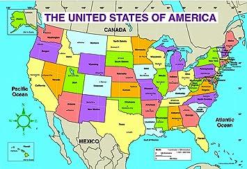 Amazon Com Carson Dellosa U S Map Chart 3090 Wall Maps Office Products