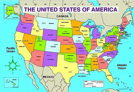 Carson Dellosa US Map Chart (3090)